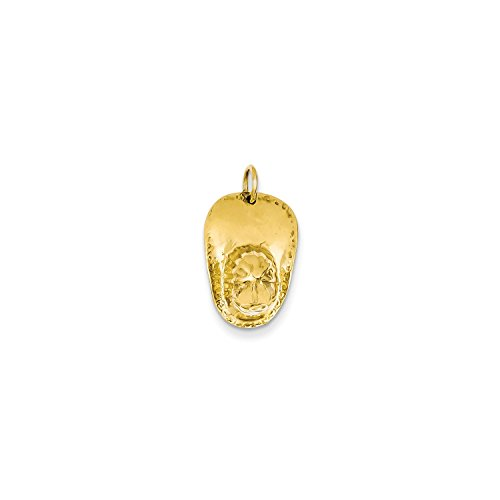 Roy Rose Jewelry 14K Yellow Gold 3-D Large Fireman's Hat Charm