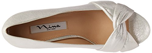 Pump Reflect Suede Women's Edelia Wedge Nina Silver qwZvtcO