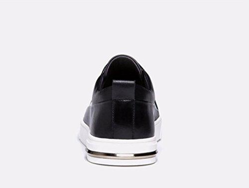 GRRONG , Chaussures bateau pour homme Noir