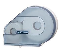 San Jamar R6500TBL Arctic Blue Quantum Jumbo Roll Toilet Tissue Dispenser