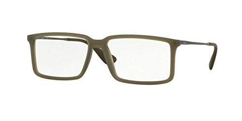 Ray-Ban Eyeglasses RX7043 5466 Rubber Demi Gloss Military 52 14 - Ban Ray Aviators Military