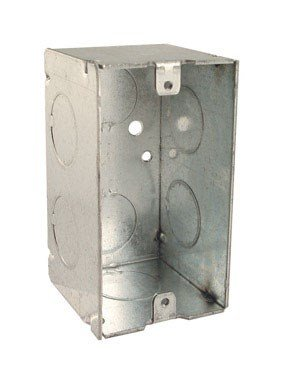 Welded Box - Hubbell-Raco 674 2-1/8-Inch Deep Handy Electrical Box with 6 x 3/4-Inch Knockouts and Welded, 4-Inch x 2-Inch