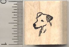 Tiny Parson's Terrier (Jack Russell) Rubber Stamp