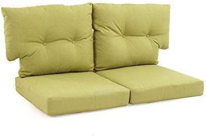 Reviewed: Martha Stewart Living Charlottetown Green Bean Replacement Outdoor Loveseat Cushion