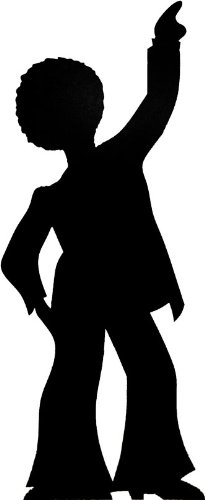 Disco Dancer - Silhouette Lifesize Cardboard Cutout / Standee / Standup by Starstills UK - Party Cardboard Cutouts