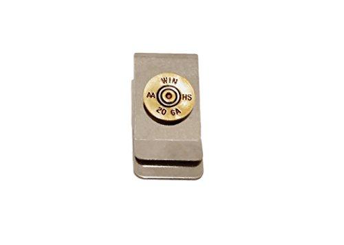 Stainless Steel 20 gauge Recycled Brass Bullet Shotgun Shell Money Clip Accessory Gift for Men