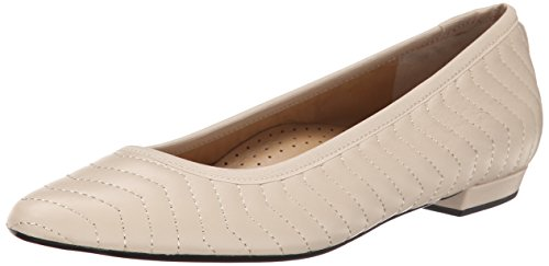 VANELi Women's Ginebra 025291 Ballet Flat, Ecru Quilted Nappa, 9.5 M US