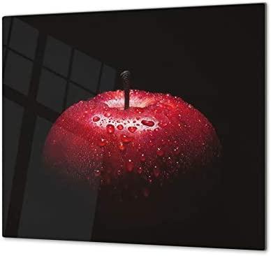 Tabla de cocina de vidrio templado - Tabla de cortar de cristal resistente – Cubre Vitro Decorativo – UNA PIEZA (60 x 52 cm) o DOS PIEZAS (30 x 52 ...