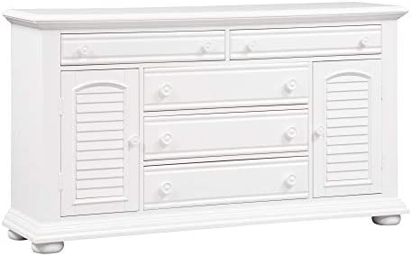 Liberty Furniture Industries Summer House I 2 Door 5 Drawer Dresser, 66 x 18 x 37 , Oyster White
