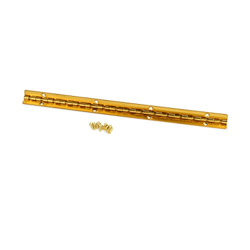 (Small Piano Hinge Brass Plated 200mm x 9mm)