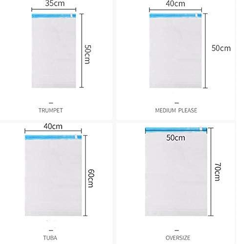 旅行用収納袋 10ピース旅行ハンドロール収納袋スペースセーバーバッグ旅行オーガナイザー荷物圧縮ポーチセット防水服収納 ハンドロールアップ再利用可能な服 (色 : As picture, Size : S)