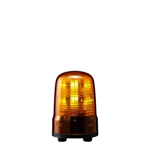 パトライト 回転灯 SF08-M2JN-Y Φ80 AC100~240V 発光パターン(22種) 黄色 3点ボルト足取付