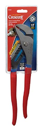 Crescent R212CV 3-Inch Jaw Capacity 12-Inch Straight Jaw Cushion Grip Tongue and Groove Plier,