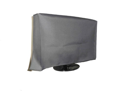 Large Flat Screen TV (65'') Vinyl Padded Dust Sliver Color Covers Ideal for Outdoor Locations Such as Restaurants, Hotels, Marinas or Poolside Locations (65'' Cover - 60'' x 4'' x 35.5'') by Viziflex (Image #1)