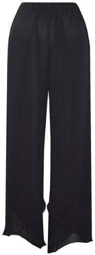 Plus Size Black Wave Pants --Size: 1x Color: Black