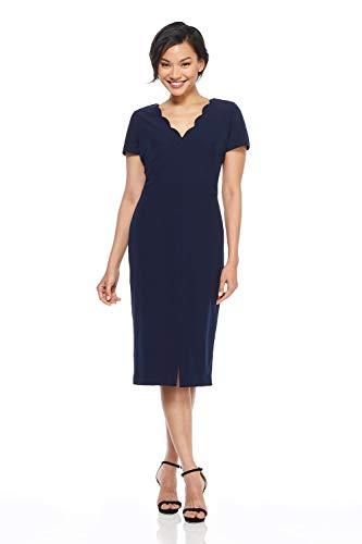 Maggy London Women's Dream Crepe Sheath Dress, Navy, 12
