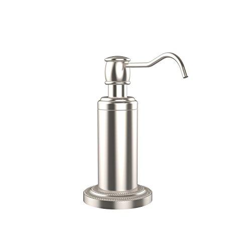 (Allied Brass DT-61-SN Free Standing Soap Dispenser, Satin Nickel)