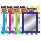 3 Pk, BAZIC Magnetic Locker Mirror - 5.5'' X 7'' (Colors May Vary)