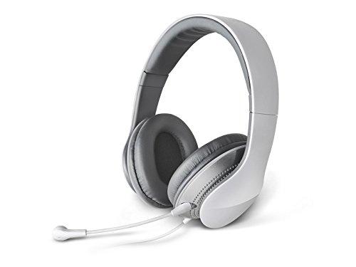 XHKCYOEJ Headset Stereo Headset/Headphones/Head Wear/Microphone/Wire/Headphones/Headphones,White: Amazon.co.uk: Electronics