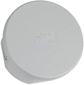 Caja de Conexiones Ø80 4+2 IP65 Adorno Caja de Empalme Conexiones Caja 002.CS M-L 0936: Amazon.es: Bricolaje y herramientas