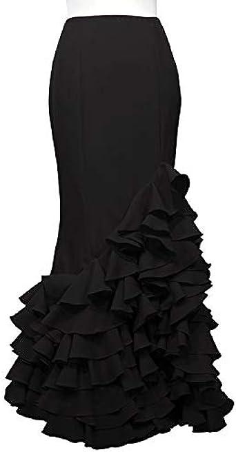 Doña Ana Falda de Flamenca Señora Almendralejo Negra (38): Amazon ...