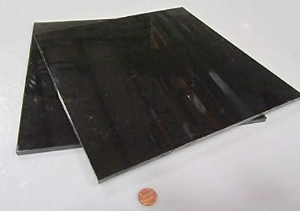 """.125/"""" X 12/"""" X 48/"""" Black Color Acetal Sheet Delrin Plastic"""