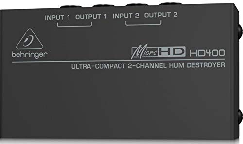 (Behringer MicroHD HD400 Ultra-Compact 2-Channel Hum Destroyer)