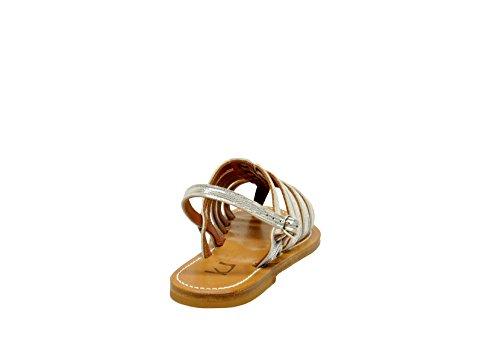 K JACQUES Sandalias de Vestir Para Mujer Plateado Plata It - Marke Größe