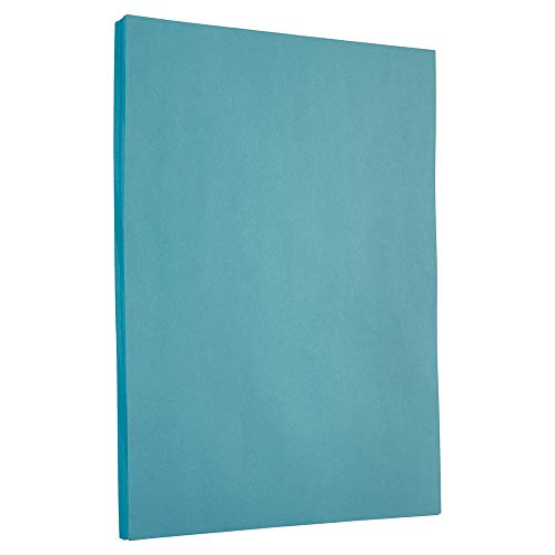 JAM PAPER Colored 24lb Paper - 8.5 x 11 - Blue Recycled - 100 Sheets/Pack