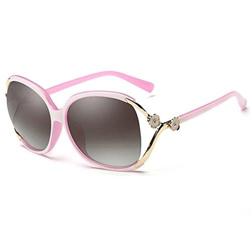 polarizadas Gafas Calle Pink la de Estilo de La Moda Blue Gafas sol 60mm Wayfarer Color polarizó con Mujer Las z7YzqUCw