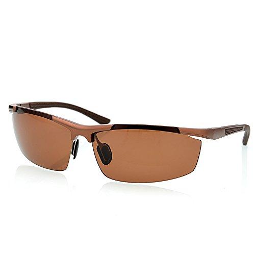 Brown Gafas de hombres polarizadas UV400 magnesio TIANLIANG04 rojo en de mens aluminio protección de gafas guía Moda aleación de OqwxXxdU