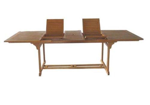 Liberia Auszugs-Tisch für Garten und Terrasse, Eukalyptus FSC 180-220-260/110 cm