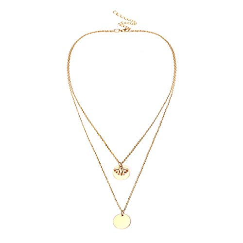 (Thenxin Dainty Layered Choker,Fashion Trendy Jewelry Boho Multilayer Necklace Gift for Women(Gold))