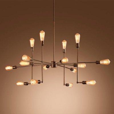 Chandelier Large Pendant (Industrial Vintage Metal Large Chandelier with 16 Lights - LITFAD 40