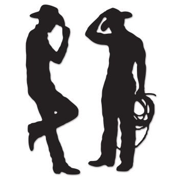 Beistle 54225 Cowboy Silhouettes, 35-Inch and (Cowboy Party Theme)