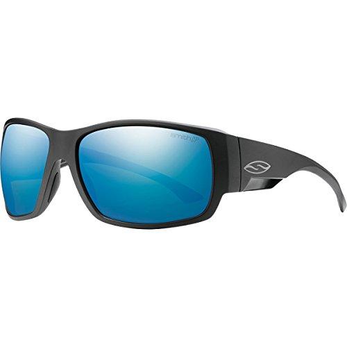 Smith Optics Dockside Lifestyle Polarized Sunglasses, Matte Black/Chromapop Blue Mirror - Dockside Collection