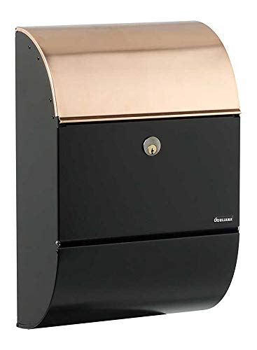 - Qualarc ALX-3000-BC Allux 3000 Wall Mounted Locking Mailbox, Black and Copper