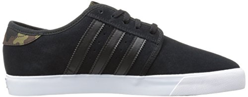 Adidas Originals Men's Seeley Fashion Sneaker, Core Black/Olive Cargo Running White, 10.5 M US