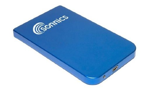 Sonnics 500GB 2.5 Inch Blue External pocket Hard drive USB powered for use with Windows PC, Apple Mac, Smart tv, Xbox 360 & PS3 FAT32