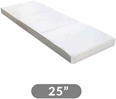 Milliard Tri Folding Mattress with Washable Cover Space Saver Single Size (75 inches x 25 inches x 4 inches)