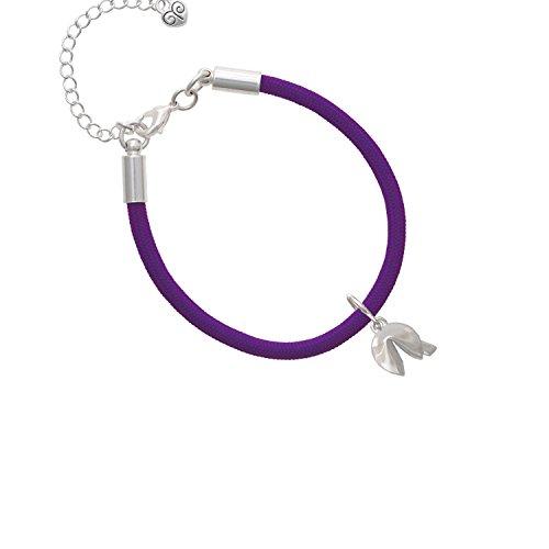 3-D Fortune Cookie Purple Malibu Paracord Bracelet