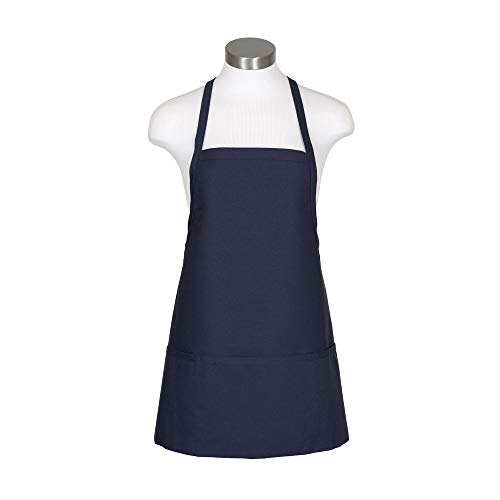 (Fame Adult's Criss-Cross Bib Apron - Navy Blue -)