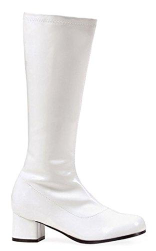 Boots Dora Costumes (Ellie Shoes 212581 Dora - White Child Boots - White - X-Large - 4-5)