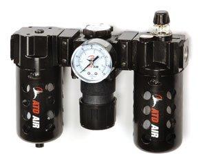 ATD Tools 7872 Poly Filter, Regulator, Lubricator and Gauge Modular Unit with Manual Drain