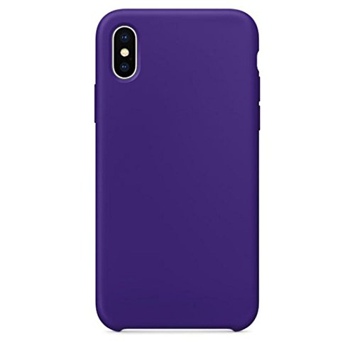 Livoty For iPhone X Case New Official Soft Silicone Case Cover For IPhone X Boxed (Purple)