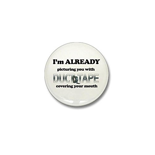 Humor Duct Tape - CafePress Duct Tape Humor Mini Button 1