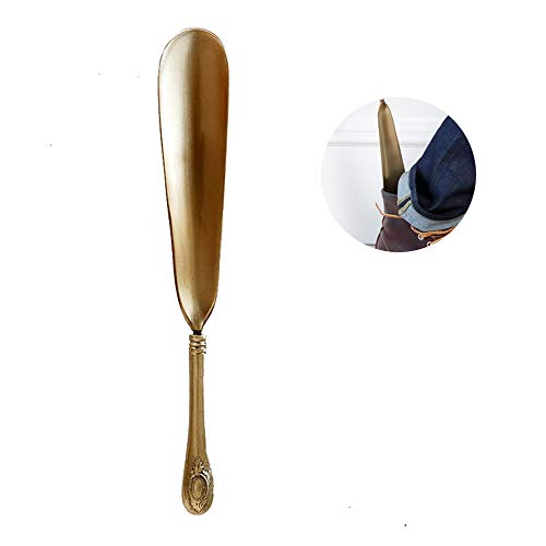Calzador Metal Shoe Horn- Calzador para Hombres, Mujeres, Personas Mayores de Cobre