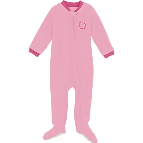 Reebok Indianapolis Colts Infant Long Sleeve Pink Blanket Sleeper Infant 12 Months