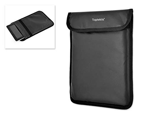 Tekit D102 Simple PU Leather Protective Anti-tracking Anti-spying GPS Rfid Signal Blocking Blocker Pouch Bag Sleeve Case Cover for 7-10 inches Tablets