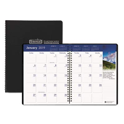 House of Doolittle Earthscapes Full-Color Monthly Planner, 2009-2011 Edition, 8.50 x 11 Inches, Black (264-02)